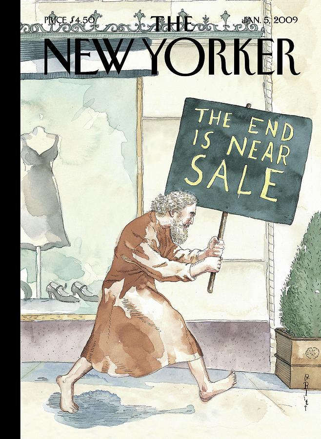 Everything Must Go By Barry Blitt Painting by Barry Blitt