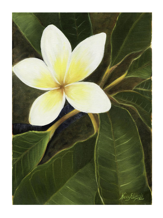 Hawaiian Flowers Painting - Everywhere In Hawaii by Nancy Edwards