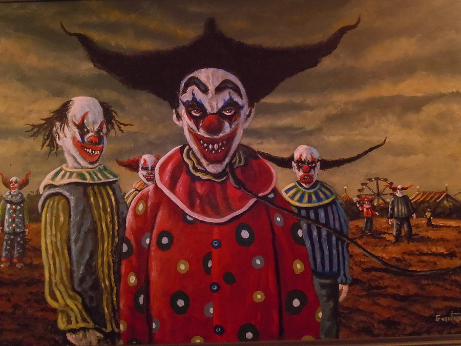 'Nightmare Clown' by James Ryman. : ImaginaryCircus |Creepy Clown Painting