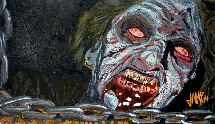 Horror Painting - Evil Dead by Jose Mendez