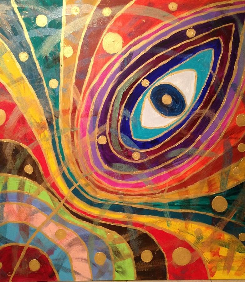 Evil Eye Painting By Katy Shahandeh
