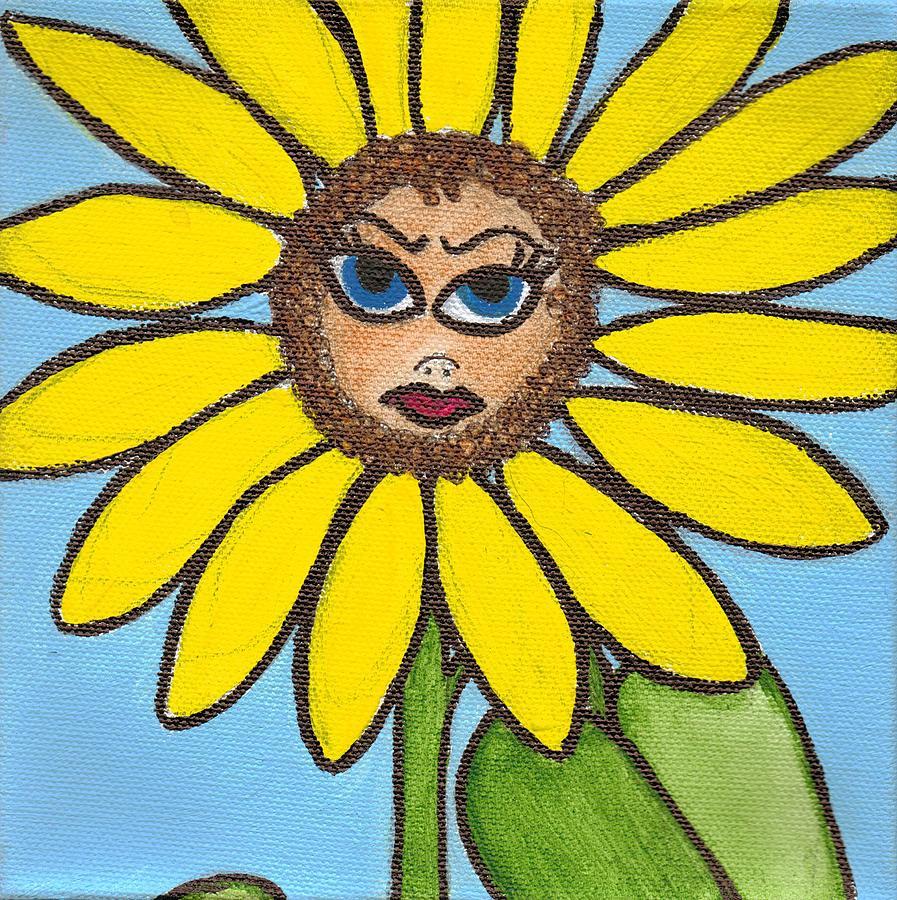 Evil Lil Flower by Kim  Rahal