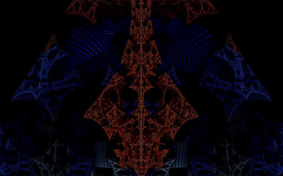 Dsynegrafix Digital Art - Evil Lurks In The Darkness by Ricky Jarnagin