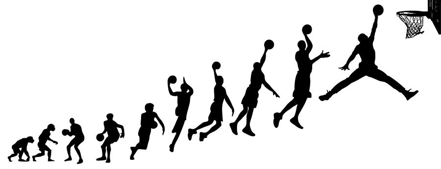 Evolution Human To Michael Jordan is a drawing by Jarvis Chau which ...