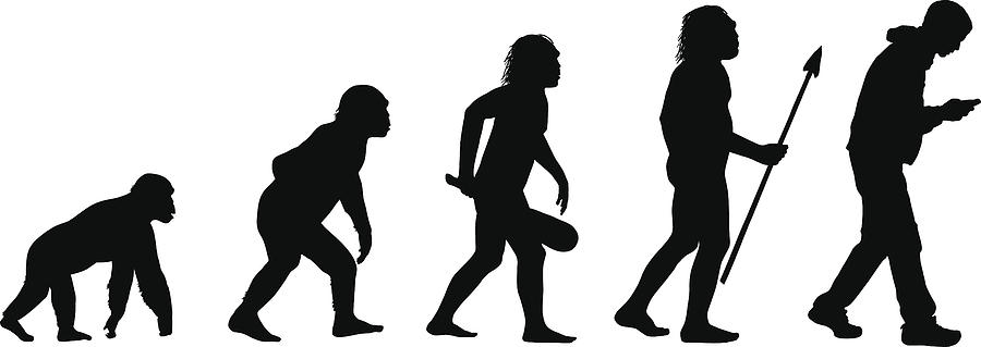 Evolution of the Texting Human Drawing by D-l-b