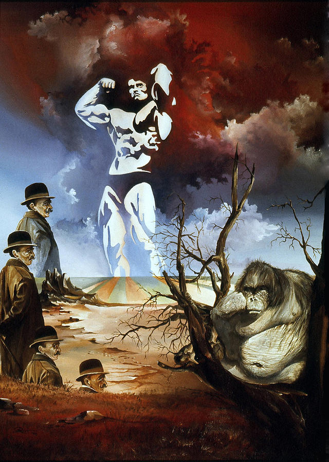 Surrealism Painting - Evolution by Otto Rapp
