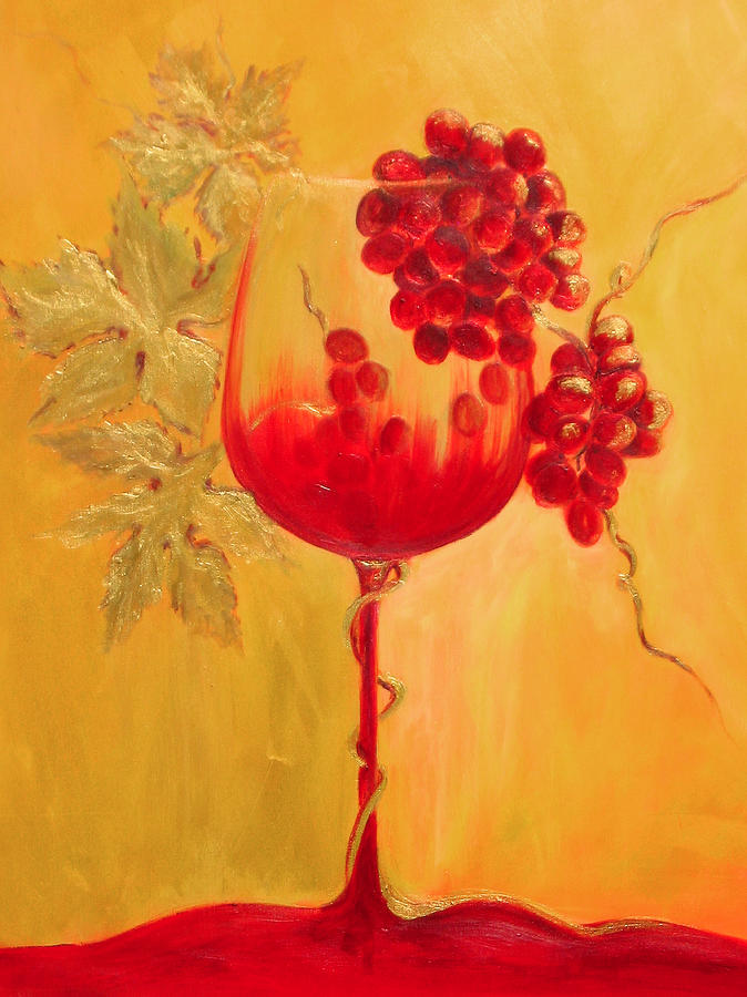 Wine Glass Painting - Evolution by Sheri  Chakamian