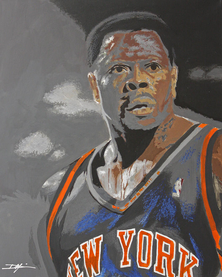 New York Knicks Drawing - Ewing by Don Medina
