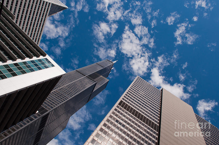 Chicago Downtown Photograph - ex Sears Tower Chicago by Dejan Jovanovic