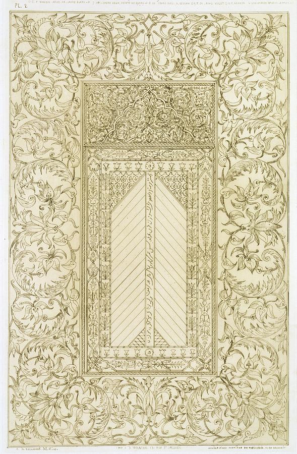 Mosaic Drawing - Example Of A Turkish Chimney by Jean Francois Albanis de Beaumont