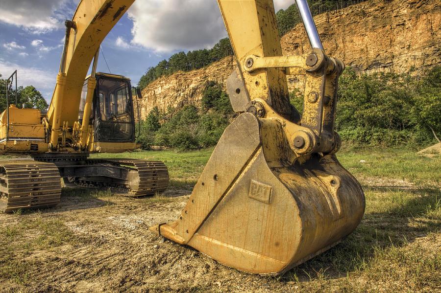 Excavator Photograph - Excavator At Big Rock Quarry - Emerald Park - Arkansas by Jason Politte
