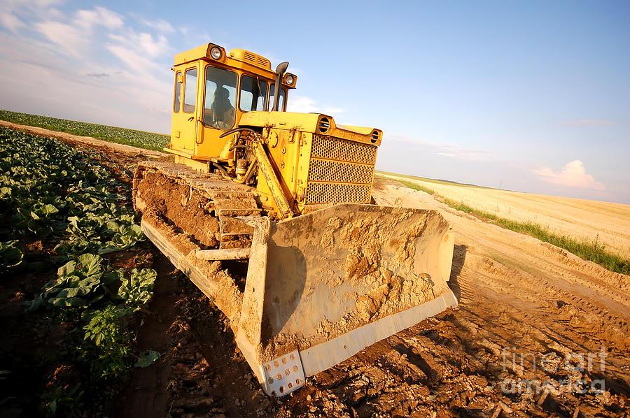 Bulldozer Photograph - Excavator Working by Michal Bednarek