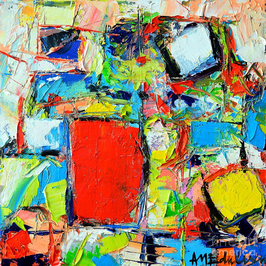 Abstract Painting - Excess Instinct by Ana Maria Edulescu