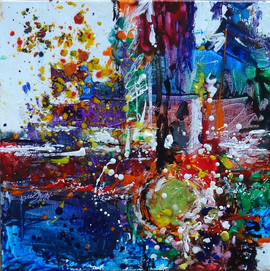 Encoustic Painting - Excitement by Kelley Smith