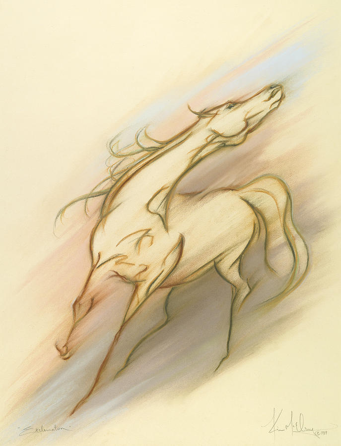Free Spirit Horse Pastel - Exclamation by Kim McElroy