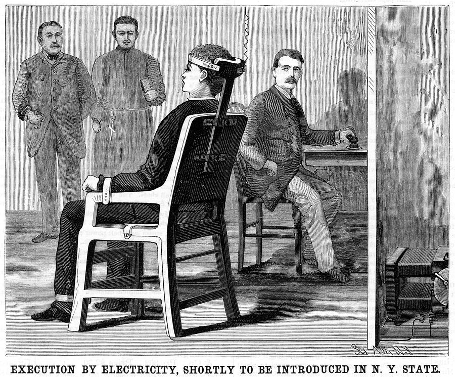 Artist Photograph - Execution By Electric Chair by Universal History Archive/uig