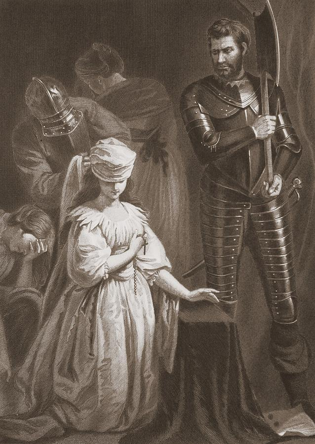 Execution Of Mary Queen Of Scots Drawing By John Opie