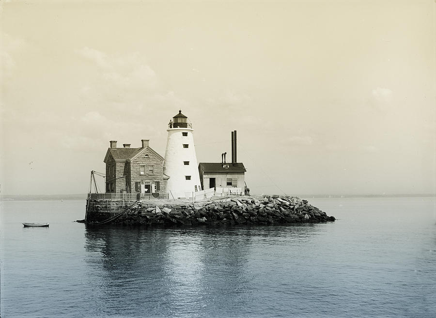 Execution Photograph - Execution Rocks Lighthouse New York  by Bill Cannon