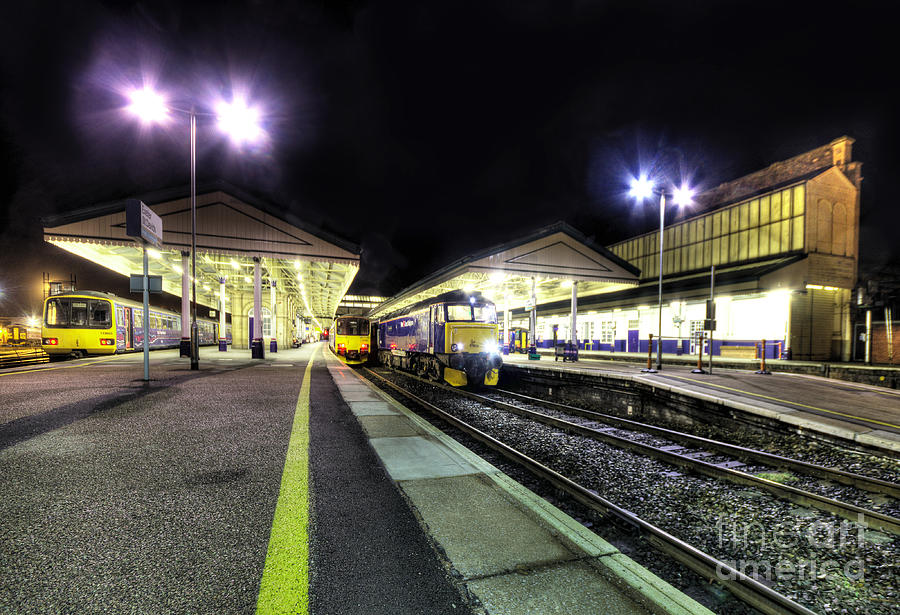 Exeter Photograph - Exeter St Davids By Night  by Rob Hawkins