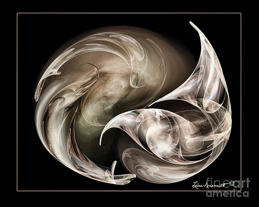 Abstract Digital Art - Exhilarted by Leona Arsenault