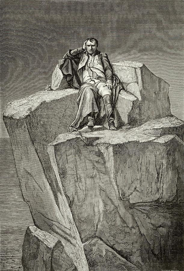Napoleon Drawing - Exiled On Saint Helena, He  Chooses by Mary Evans Picture Library