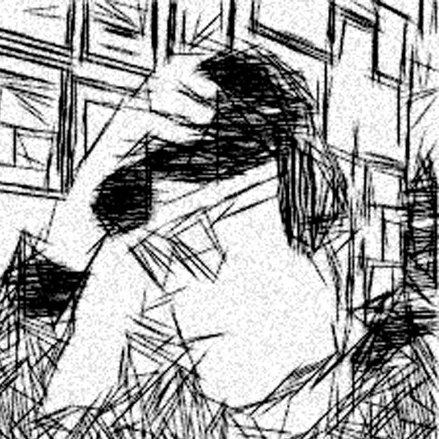 Etch-a-sketch Drawing - Existential Despair by Jonathan Harnisch