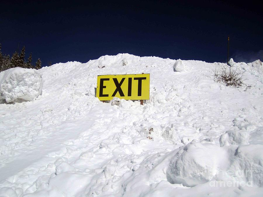 Snow Photograph - Exit by Fiona Kennard