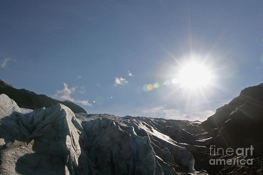 Glacier Photograph - Exit Glacier by Russell Christie