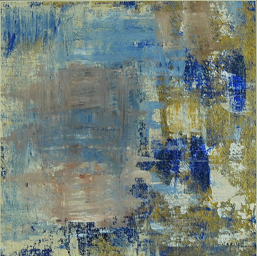 Abstract Painting - Exit Stage Left by Sue McElligott