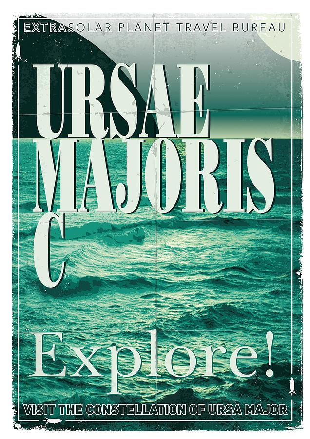 Space Digital Art - Exoplanet 03 Travel Poster Ursae Majoris by Chungkong Art