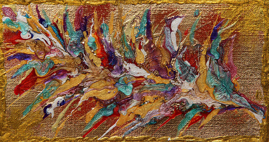 Abstract Painting Painting - Exotic Flower Abstract Painting by Julia Apostolova