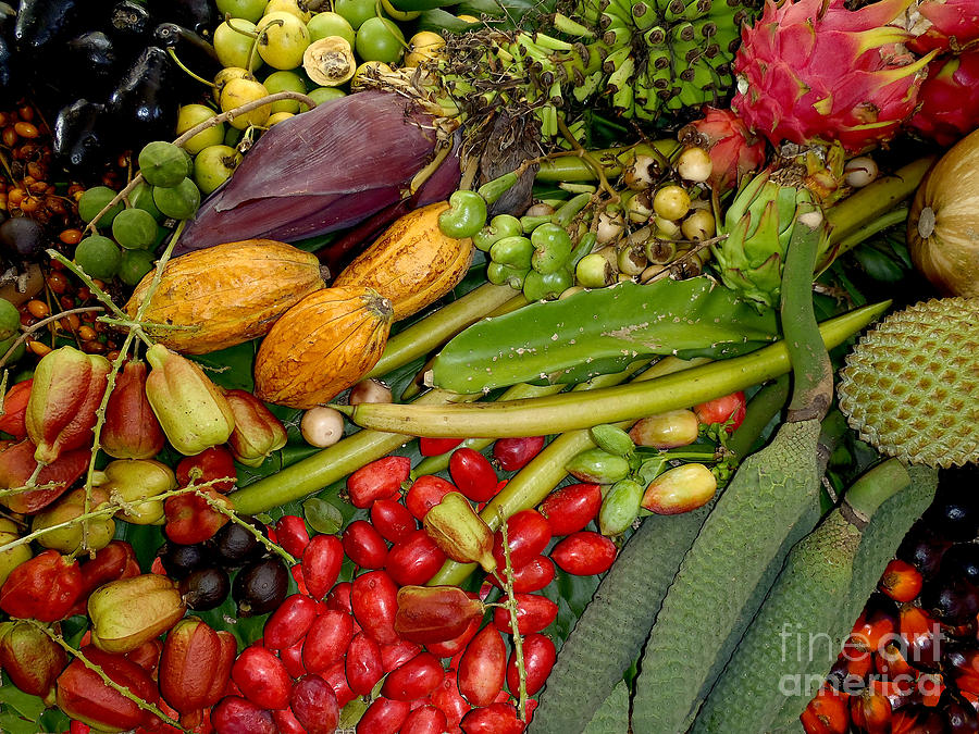Fruits Photograph - Exotic Fruits by Carey Chen