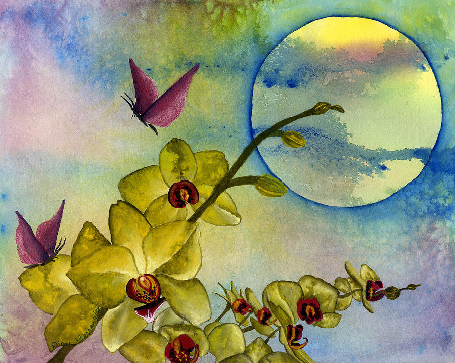 Moon Painting - Exotic Moon by Diane Ferron