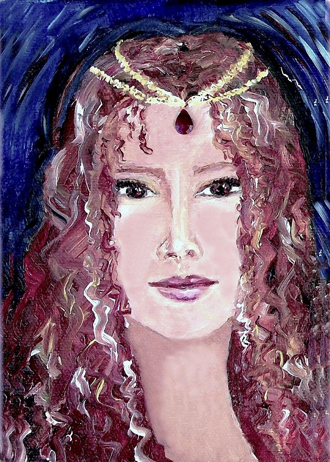 Portrait Painting - Exotic Ruby by Robin Monroe