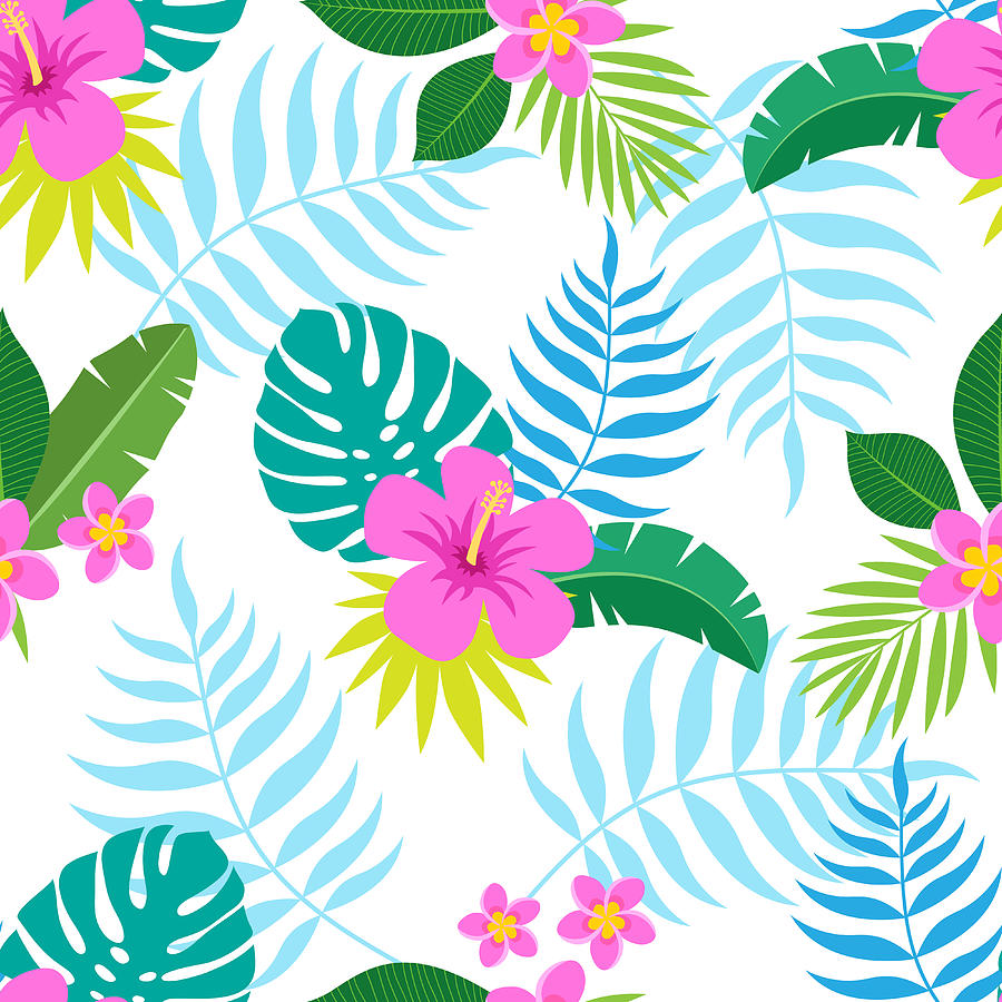 Exotic Seamless Colorful Pattern With Digital Art by Ekaterina Bedoeva