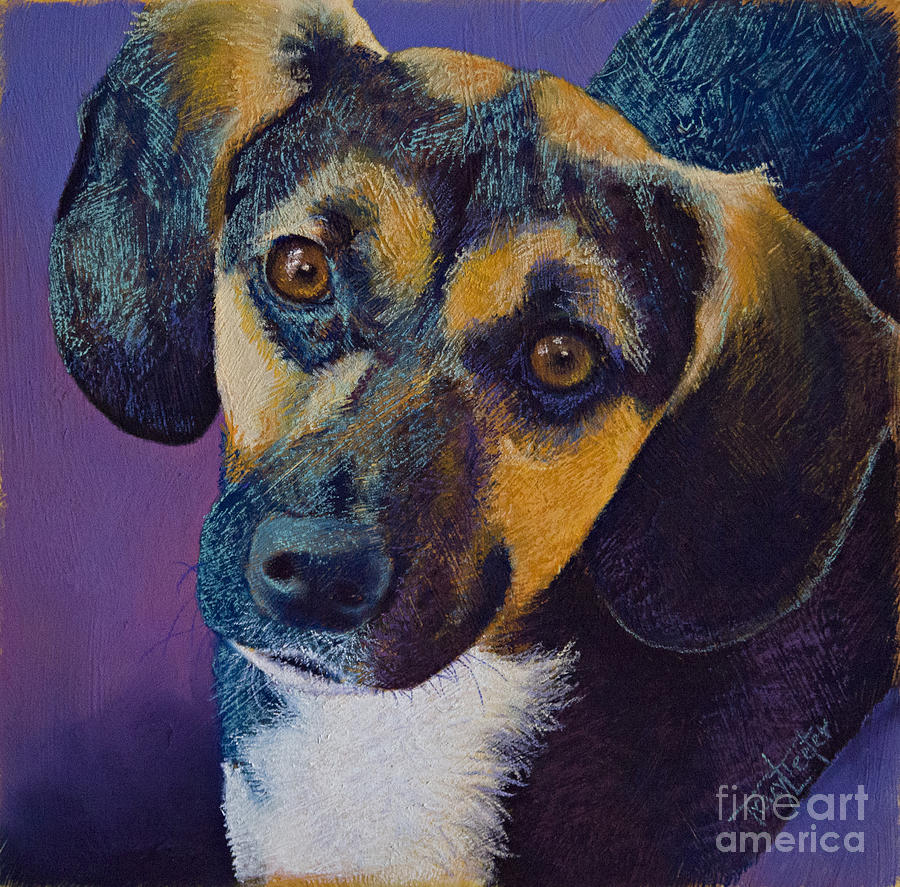 Dogs Pastel - Expectations by Tracy L Teeter