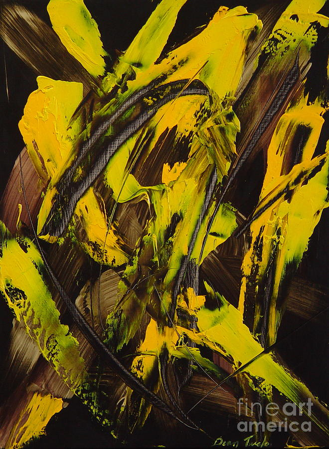 Abstract Painting - Expectations Yellow by Dean Triolo