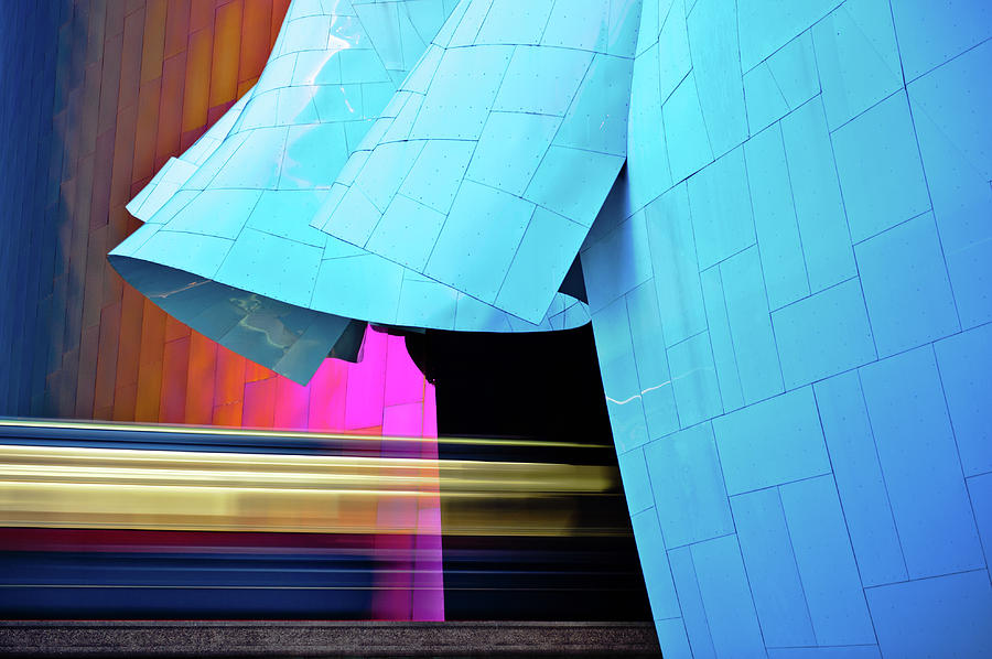 Monorail Photograph - Experience Music Project by Jill Maguire