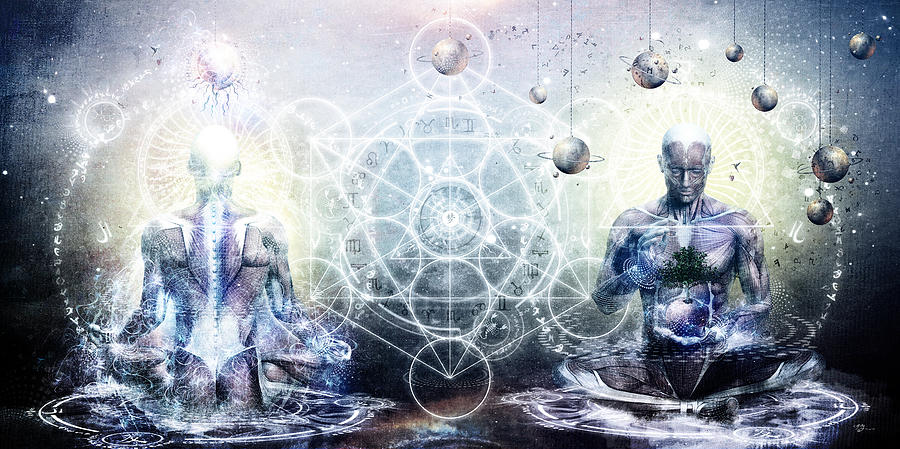 Spiritual Digital Art - Experience So Lucid Discovery So Clear by Cameron Gray