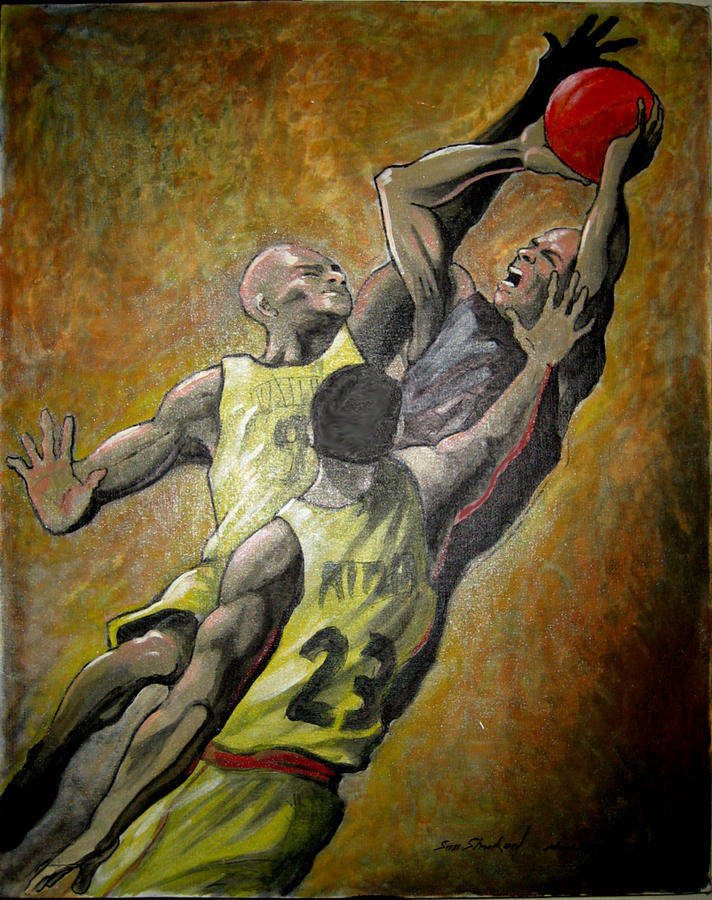 Basket Ball Painting - Experiment 01 by Sam Shacked