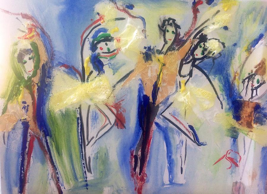 Ballet Painting - Experimental Ballet by Judith Desrosiers
