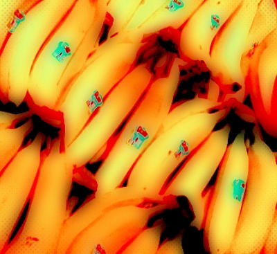 Bananas Digital Art - Experimental Shot Of Bananas by Bob Semk
