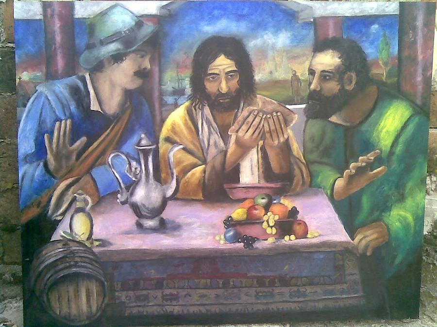 Religion Painting - Experimentisanje by Lazar Caran
