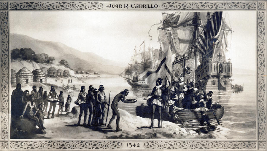 1542 Photograph - Explorer Juan Cabrillo by Underwood Archives