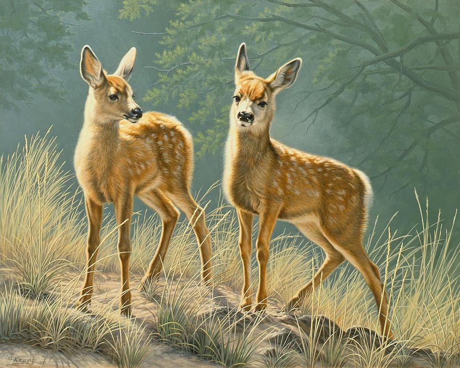 Wildlife Painting - Explorers by Paul Krapf