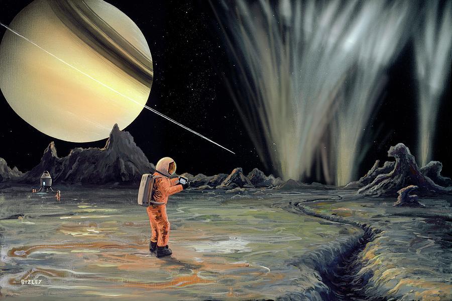 Artwork Photograph - Exploring Enceladus by Richard Bizley