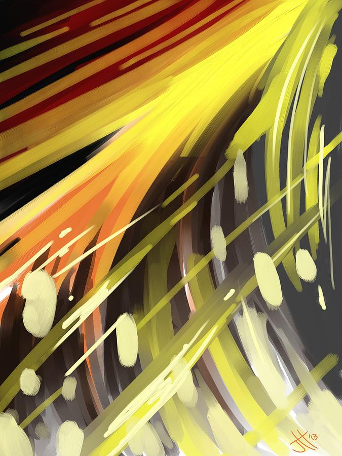 Abstract Painting - Explosion 1 by Jennifer Hotai