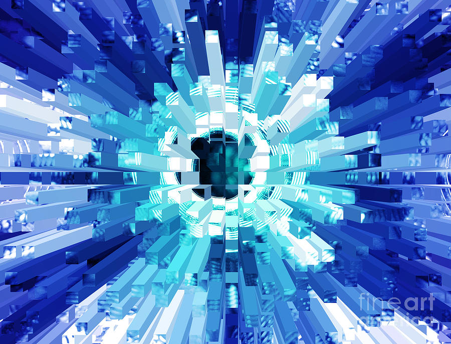 Explosion Abstract Blue Turquoise Photograph By Natalie