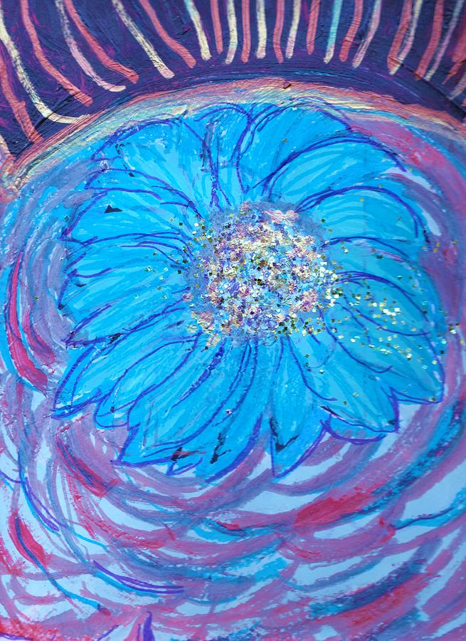 Blue Painting - Explosion Of Color by Anne-Elizabeth Whiteway
