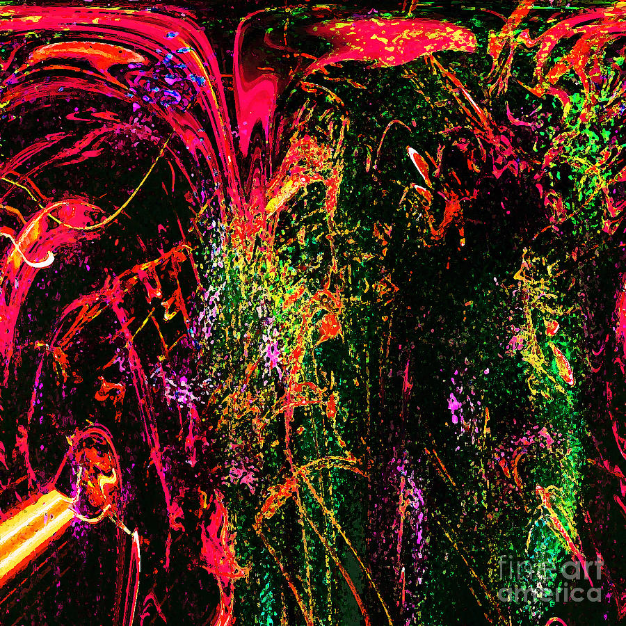 Abstract Digital Art - Explosion Of Desire by Ashantaey Sunny-Fay
